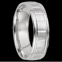 Quality All Wedding Bands 8 mm 14k White Gold Wedding Band - Sante Fe 8 for sale