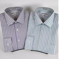 Buy cheap New Stripe Shirt w/Spread Collar & Convertible Cuffs from wholesalers