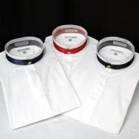 China Banded Collar Shirts w/Decorative Band & Button Closure on sale