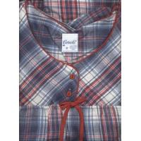 """Quality Denim & Red Plaid Flannel Nightgown 52"""" USA for sale"""