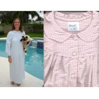 Quality Flannel Checkered Nightgown S-XXX USA for sale