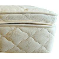 Beds and Bedding Natural Latex Mattress Topper Quilted with Organic Cotton and Wool
