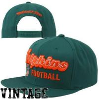 Quality Mitchell & Ness Miami Dolphins Throwback Blocker Snapback Hat - Aqua for sale