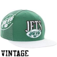 Buy cheap Mitchell & Ness New York Jets Throwback Laser Stitch Snapback Hat - Green/White from wholesalers