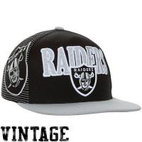 Buy cheap Mitchell & Ness Oakland Raiders Throwback Laser Stitch Snapback Hat - Black/Silver from wholesalers