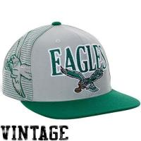 Buy cheap Mitchell & Ness Philadelphia Eagles Throwback Laser Stitch Snapback Hat - Silver/Midnight Green from wholesalers