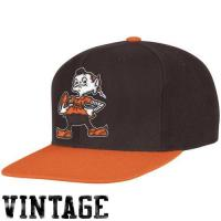 Buy cheap Mitchell & Ness Cleveland Browns Throwback XL Logo 2T Snapback Hat - Brown/Orange from wholesalers