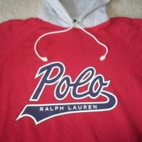 Quality VTG POLO RALPH LAUREN SCRIPT HOODIE SWEATSHIRT MENS XL P WING STADIUM 92 LO for sale