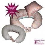 Quality Maternity & Breastfeeding Pillow - ABC Mix & Stripes Pink for sale