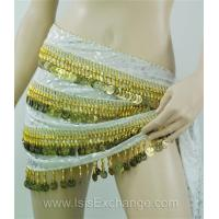 Quality Belly dance Hip Scarf - Tie Dye White Gold and Silver for sale