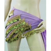 Quality Belly dance Hip Scarf - Lavender and Gold for sale