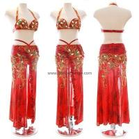 Quality Leopard Red Belly Dance Costume for sale