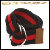 Quality Black/red Simple Ladies Webbing Belts for sale