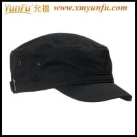 China Custom plain flat cap Military caps on sale