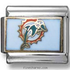 Buy Miami Dolphins Italian charm at wholesale prices