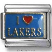 Quality I Love Lakers Italian Charm for sale