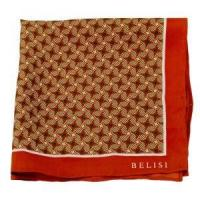 China Psychedelic Orange Silk Pocket Square or Handkerchief by Belisi on sale