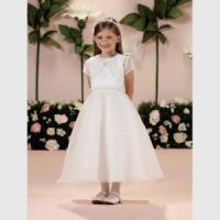 Buy cheap Girls Satin and Organza, First Communion Dresses with Jacket from Joan Calabrese, Style 14329X from wholesalers