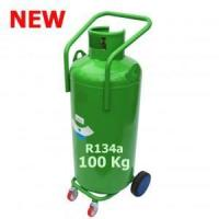 Quality 100 Kg R134a REFRIGERANT GAS REFILLABLE CYLINDER WITH WHEELS for sale