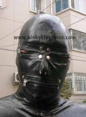 Buy Latex Hood with Zippers at wholesale prices