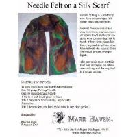 Quality Needle Felt Instructions for Silk Scarf, Hat or Purse for sale