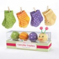 China Caterpillar Crawlers - Four-Pair Baby Socks Gift Set on sale