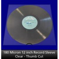 Buy cheap 180 Micron 12 inch Record Sleeve Clear Thumb Cut from wholesalers