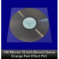 Buy cheap 140 Micron 10 inch Record Sleeve Orange Peel PVC from wholesalers