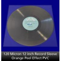 Buy cheap 120 Micron 12 inch Record Sleeve Orange Peel PVC from wholesalers