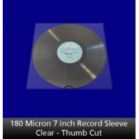 Buy cheap 180 Micron 7 inch Record Sleeve Clear Thumb Cut from wholesalers