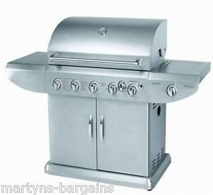 Buy 5 BURNER GAS BBQ WITH SIDE BURNER + ROTISSERIE BARBEQUE 489.99 at wholesale prices