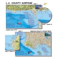 Quality L.A. County Surfing (Laminated) for sale