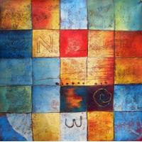 Quality modern abstract paintings letter n and w 1169 for sale