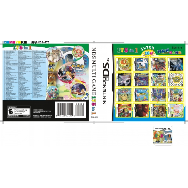 DS Multi Game Card DSi XL/DSi/DS Lite/DS DSi Games Card 16GB (175 ...