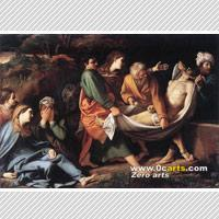 China The Entombment of Christ,Sisto Badalocchio oil painting copy on sale