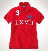 Quality Men's Ralph Lauren Classic-Fit 1967 Match Polo in Red for sale