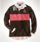 China Men's Classic-Fit Golf Crest Rugby in Burnt Umber Multi on sale