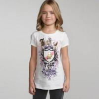 Quality Juicy Girls' 1001 Cotton T-shirt - White for sale