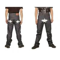 Quality Bape A Bathing Ape White star Grey Mens Jeans for sale
