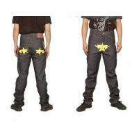 China Bape A Bathing Ape Yellow star Grey Mens Jeans on sale