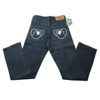 China Bape A Bathing Ape Navy White Mens Jeans on sale