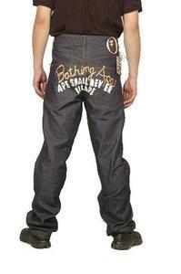 Buy Bape A Bathing Ape Grey Gold White Mens Jeans at wholesale prices