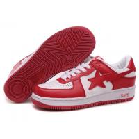 China Bape New and Better shoes red / white on sale
