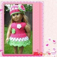 Girls Dress Patterns Free on Quality Pattern Crocheted Doll Dress For American Girl Dolldoll Dress