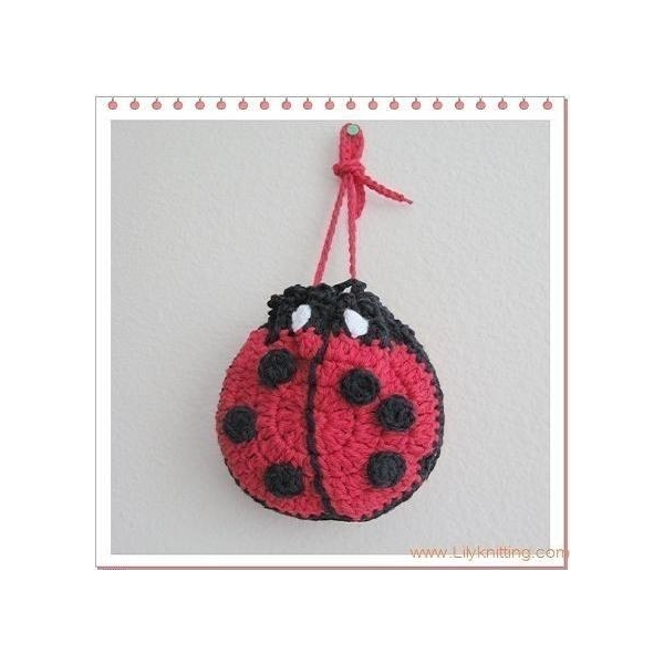Best PATTERN Crocheted Ladybug Bag, Purse, Pouch, Sachet, Bag for sale