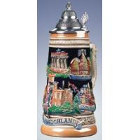 Quality German Beer Stein w/ German Scenes for sale