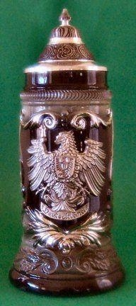 China German Beer Stein - Limited Edition - Pewter Eagle