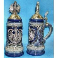 Buy cheap German Beer Stein - Blue LE - w/ Pewter Eagle Relief from wholesalers