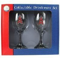Buy Los Angeles Angels of Anaheim Wine Glass Set at wholesale prices