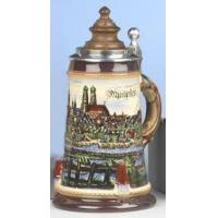 Quality Medieval Munich LE German Beer Stein with Wood Lid for sale